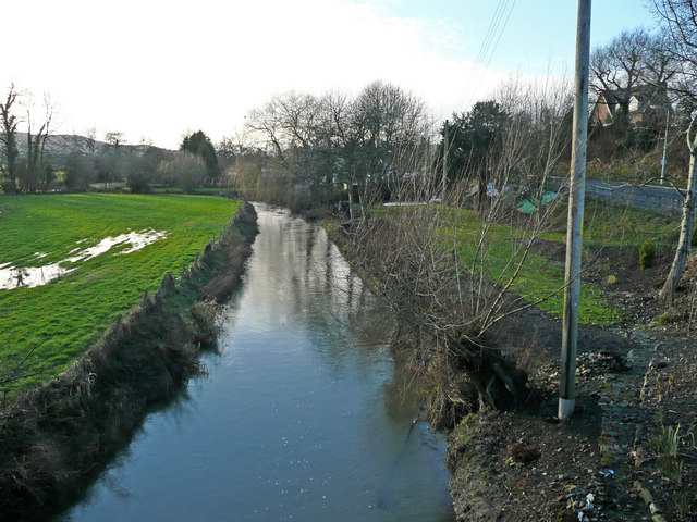 River Camlad - view upstream