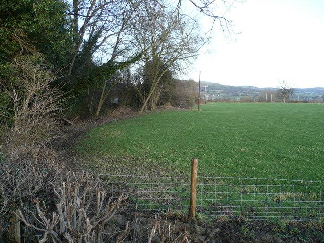View east of Mellington Bridge