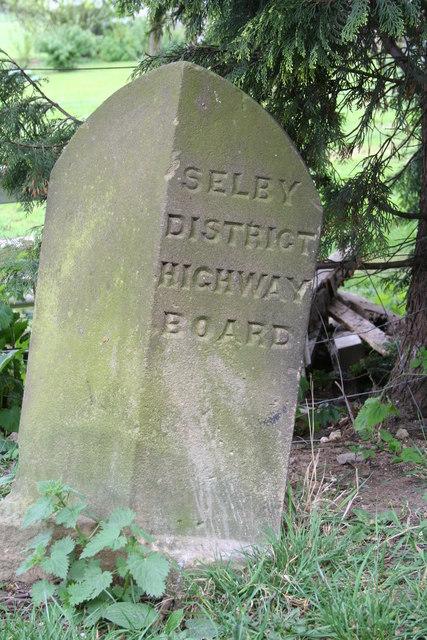 Highway Board boundary marker