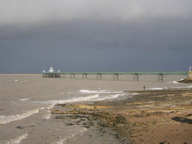 Clevedon Pier on a stormy day