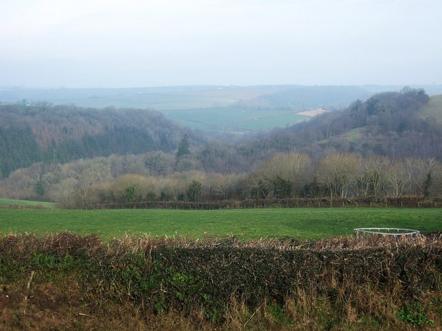 Towards the Woolleigh Brook valley from Southdown