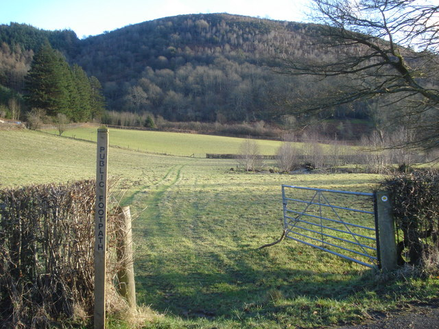 Public footpath in the Redlake valley