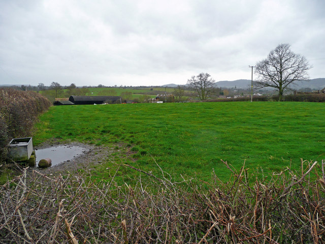 Across pastures to Woodside Farm