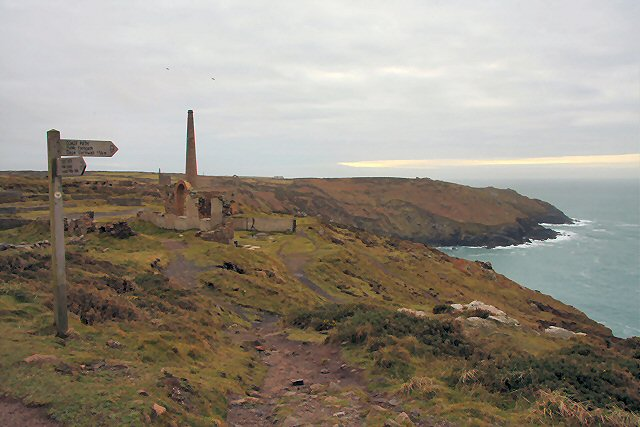 South West Coast Path at Botallack