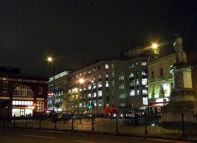 Mornington Crescent after dark