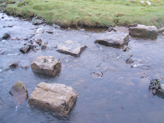 Stepping stones on West Gill