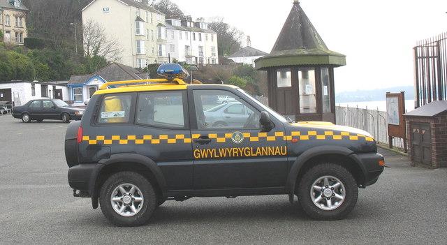 A HM Coastguard rapid response vehicle