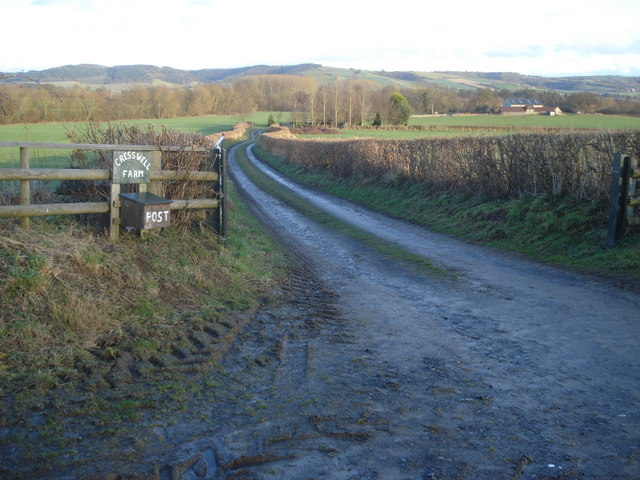 Entrance to Cresswell Farm