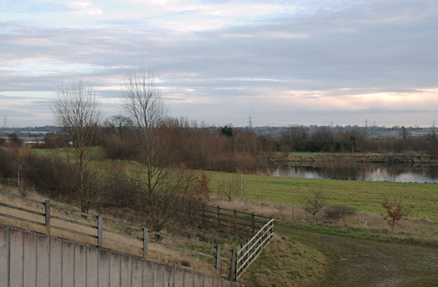 Former gravel pits south of Shardlow