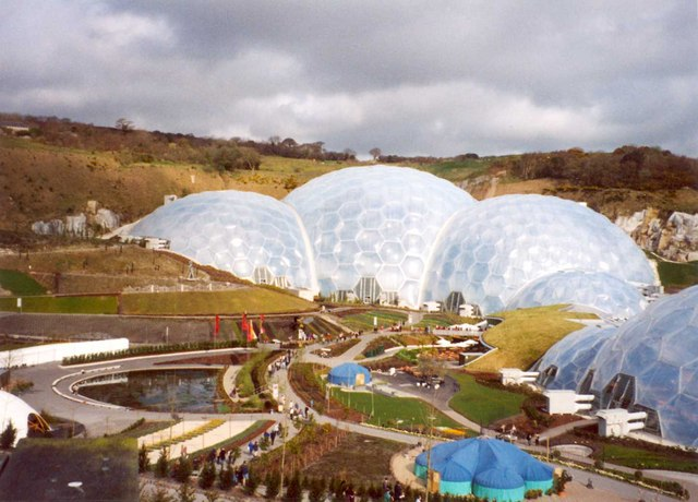 The biomes, Eden Project, St Blaise CP
