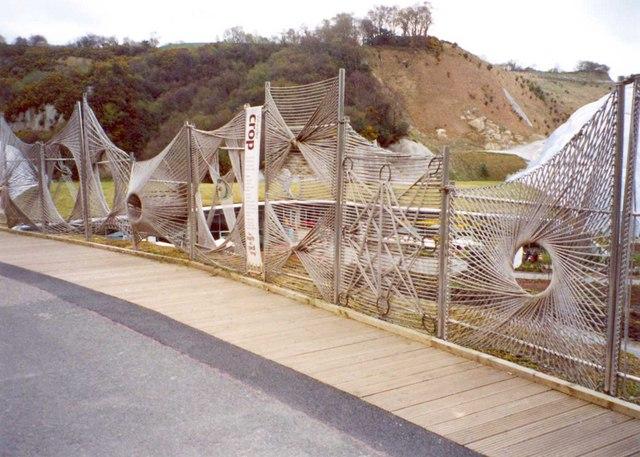Hemp fibre fencing, Eden Project, St Blaise CP