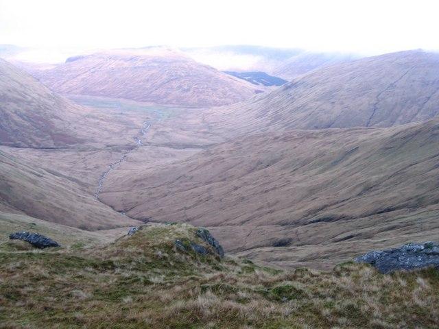 Coire Mor on northern slopes of Beinn a'Mheadhoin