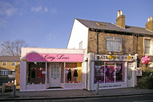 Shops in Baker Street, Enfield