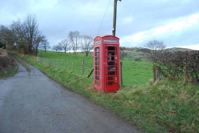 Rural public phone box