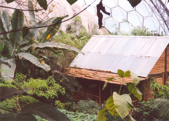 Malaysian hut, Eden Project, St Blaise CP