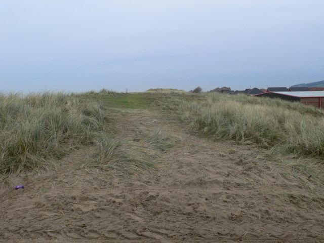 Sand dunes, Ffrith Beach