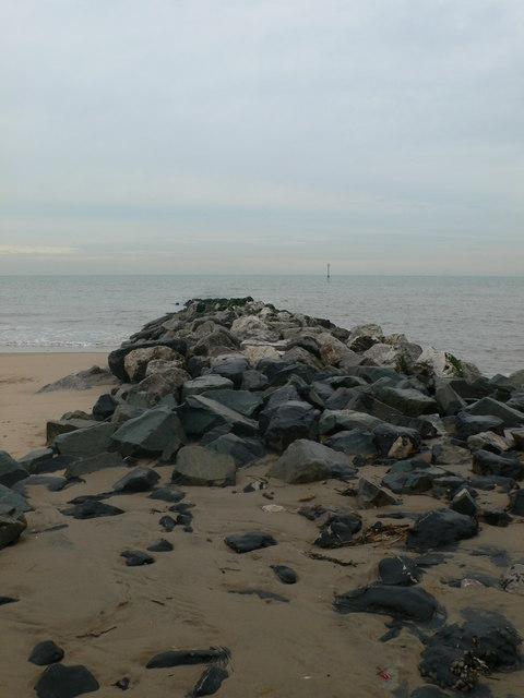 Groyne, Ffrith beach, Prestatyn