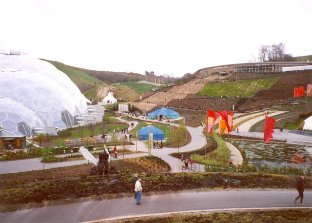 View towards the Visitor Centre, Eden Project, St Blaise CP
