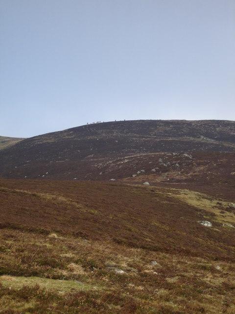 South ridge of Beinn a'Chuallaich