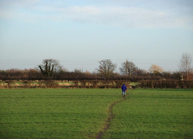Walking towards the Shardlow Road