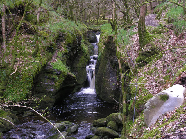 Waterfall on the Nant Gau, Hafod