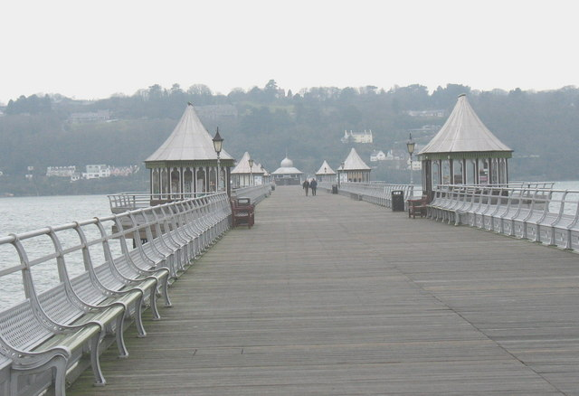 View along the pier
