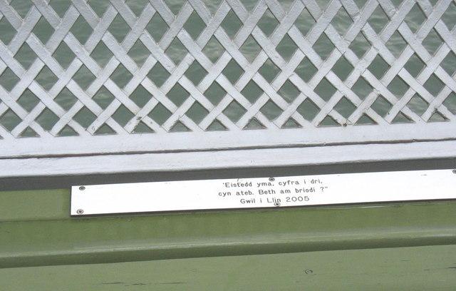 An amusing seat dedication