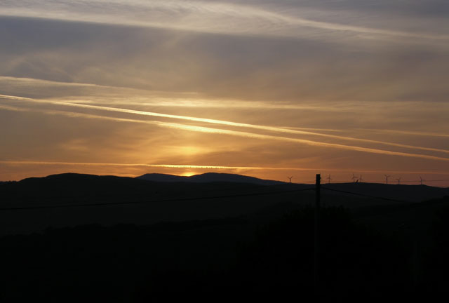 Sunrise over Plynlimon, from Pisgah