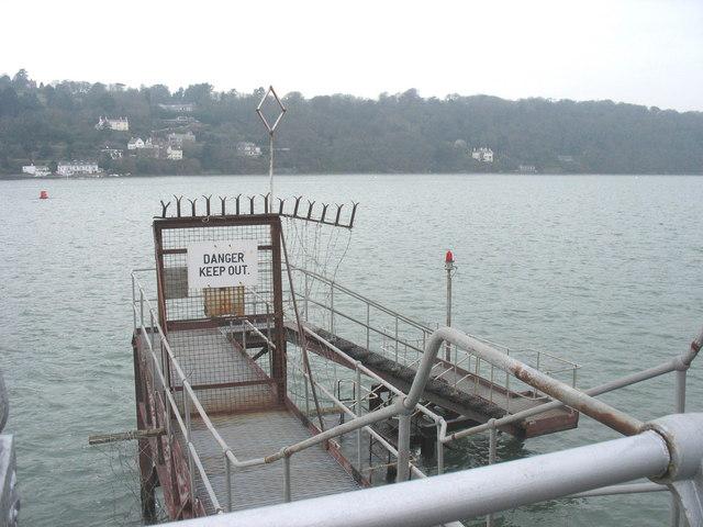 Landing stage at the seaward end of Bangor Pier
