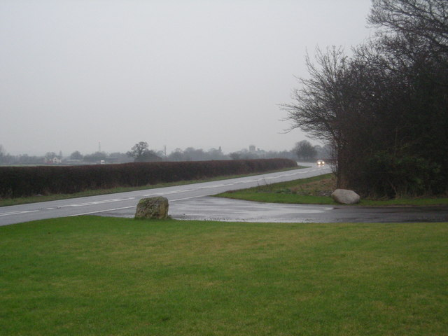 A53 past entrance to Shawbury Park.