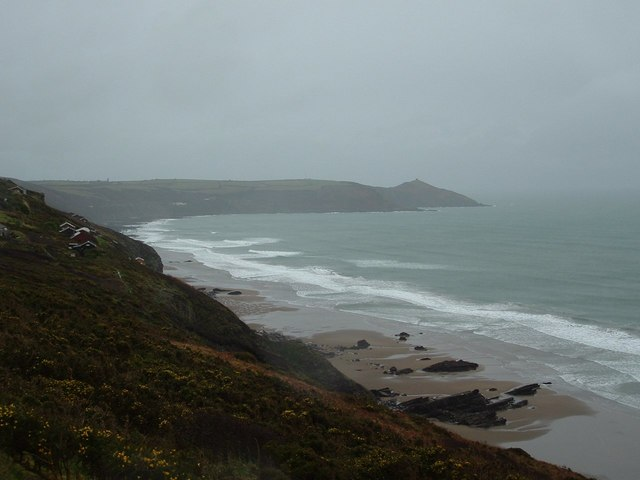 Whitsand Bay Cornwall  in the Winter