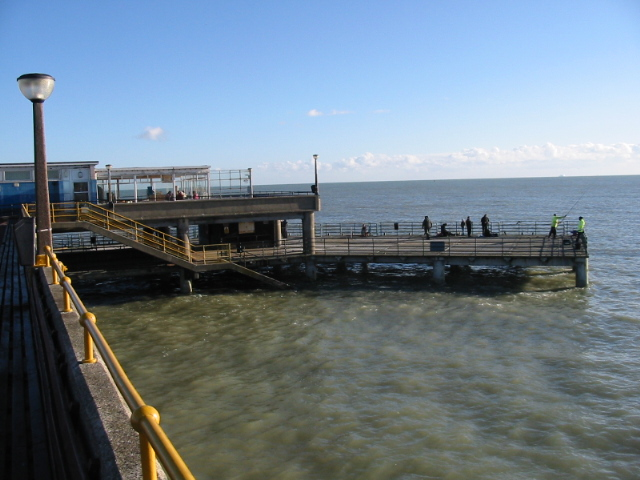 Fishermen on the end of Deal pier