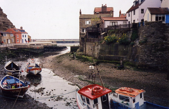 Staithes at low tide