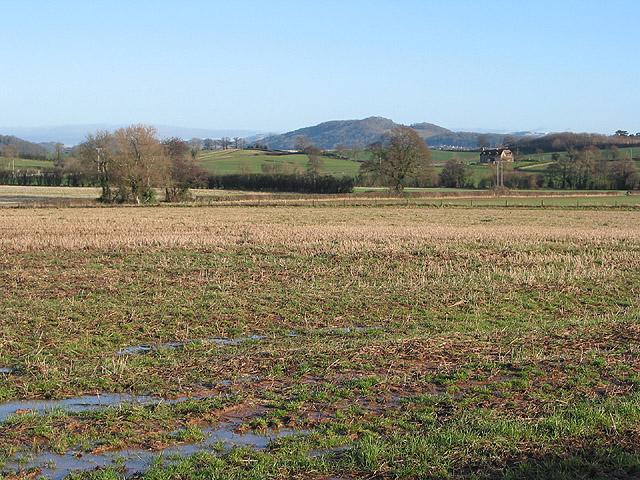 View across farmland towards Ledbury