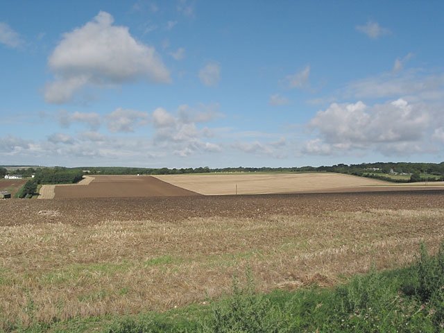 Valley and farmland north of Enmill Farm