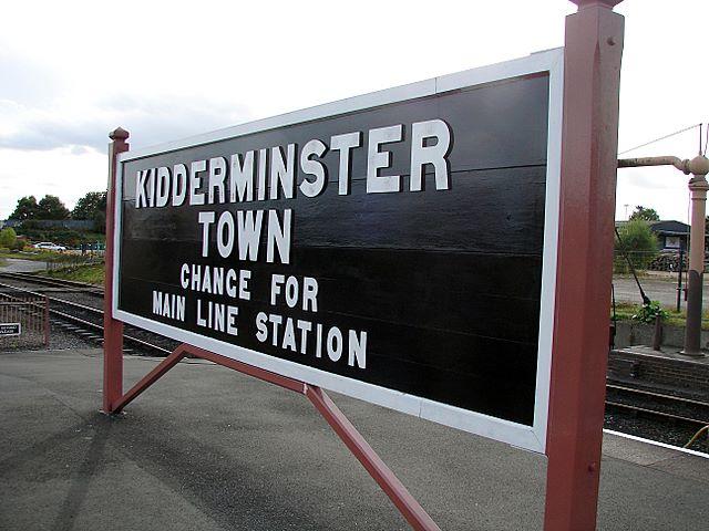 Kidderminster Town station nameboard