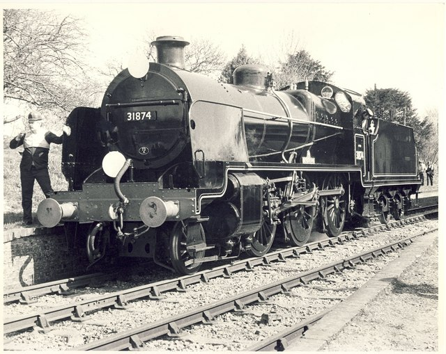 Maunsell 'N' Class No.31874 at Ropley Station.