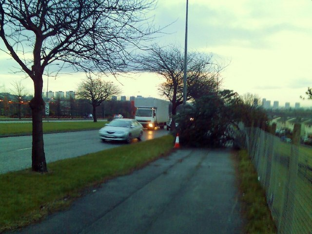 Near disaster on Great Western Road