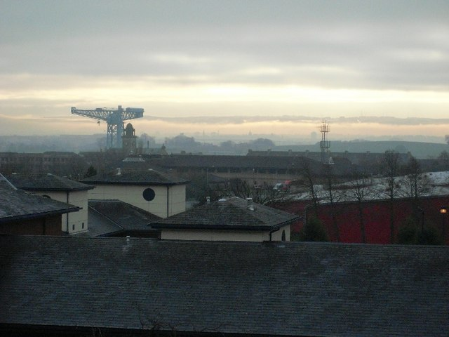 Low-lying cloud over Paisley