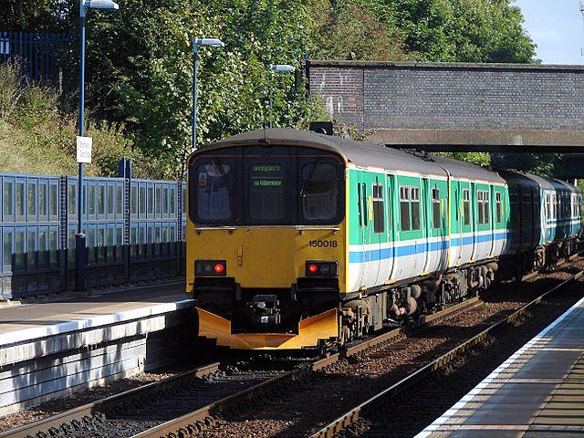 Train departing from Smethwick Galton Bridge Station