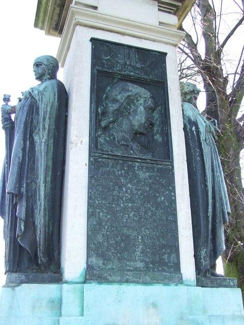 Close up of Ouida memorial