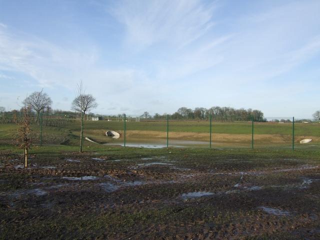 Balancing pond at i54 development