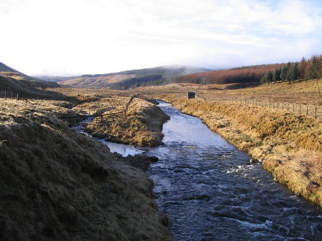 The River Tweed just SW of Tweedsmuir