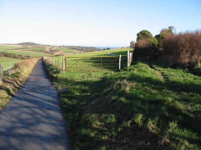 Footpaths to Kingsdown and Bockhill Farm