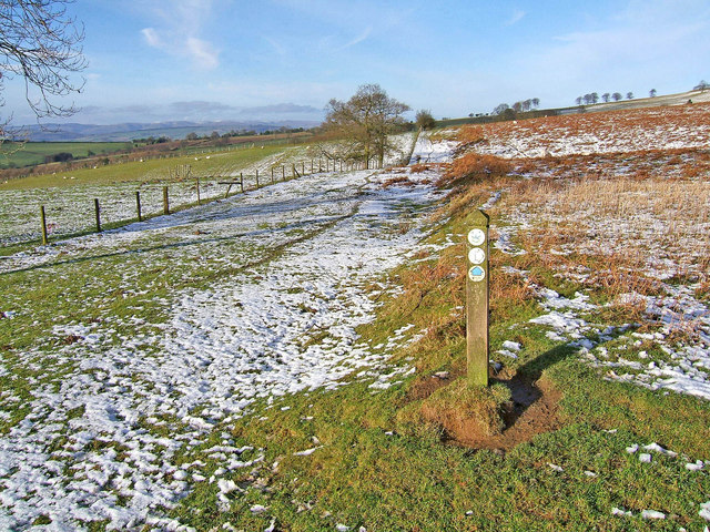 Waymarker on the Jack Mytton Way