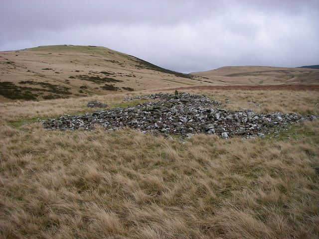 Cairn remains beside Nant Tarw