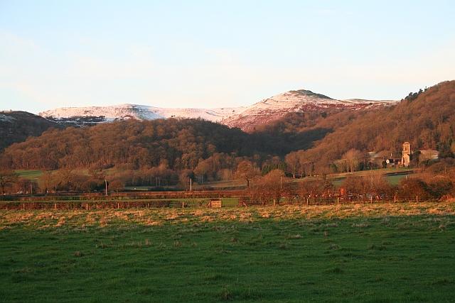 January Dawn on Little Malvern Priory