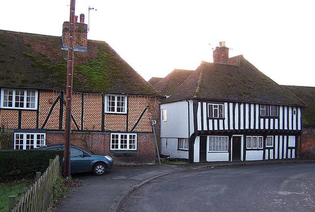 Tudor Cottages in Borden village