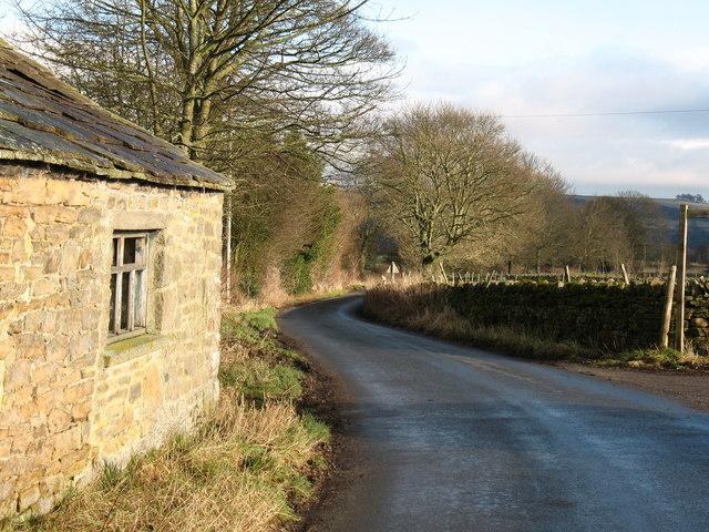 Quiet lane near Corn Park