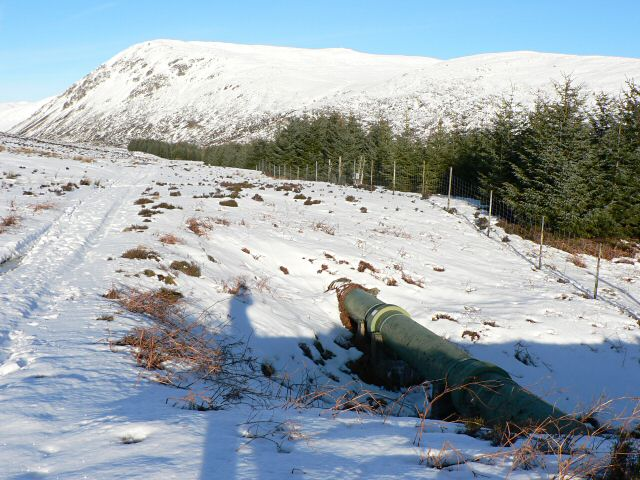 Water pipe in Glen Turret
